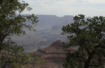 Misty layers of the Grand Canyon