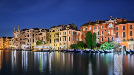 Palazzi at the Grand Canal at night, Venice