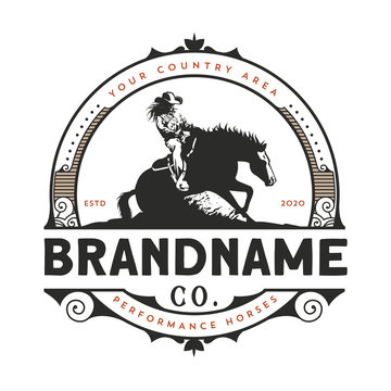 Horse training logo design