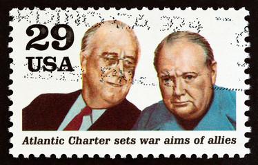 Franklin Roosevelt and Winston Churchill (USA 1991)