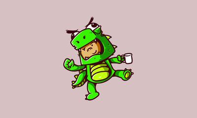 Kid monster costum mascot