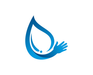 Water care, water donation or milk logo template design, emblem, symbol or icon
