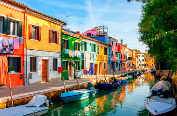 Acrylic Prints Venice Colorful houses in Burano island near Venice, Italy.