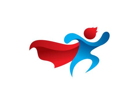 People hero logo template design, emblem, symbol or icon