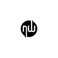 nw n w letter template logo design