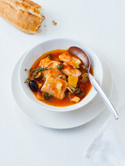 Tomatensuppe mit Pangasius Fischfilet