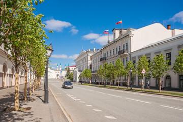 Kremlin street in Kazan in the summer