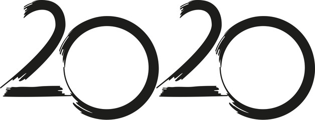 2020 - Happy new year - moon year - symbol of a rat, golden number