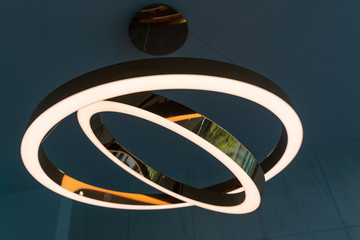Ceiling lamp light bulbs golden circle stacked up shape interior decoration