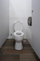 Modern white toilet bowl bathroom or restroom interior design modern building decoration