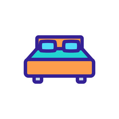 Wall Murals Cars Two-bedroom bed icon vector. A thin line sign. Isolated contour symbol illustration