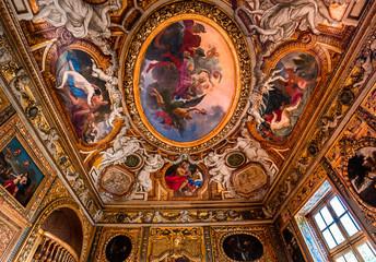 Interior decors of hotel de Lauzun, Paris, France