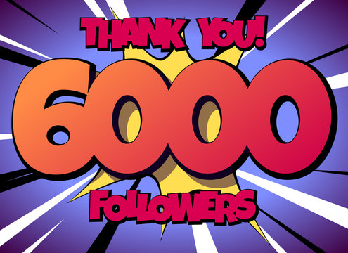 Thank You 6000 followers Comics Banner