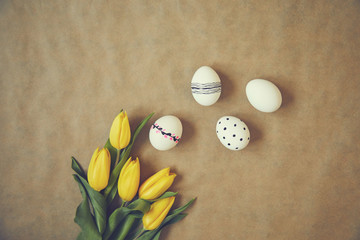 Preparing Easter egg for holiday. Happy Easter. Spring concept.