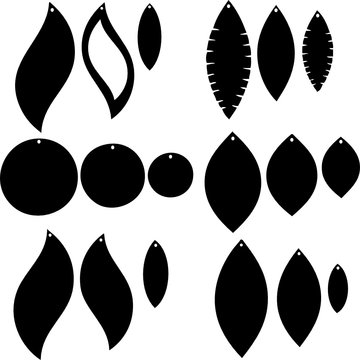 Mix Styles Svg Earrings Vector File Cricut and Silhouette Files