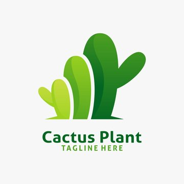 Cactus plant logo design inspiration