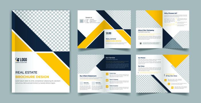 Real estate 8 page brochure design