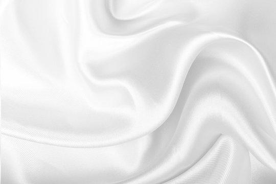 White fabric texture background, Wavy satin