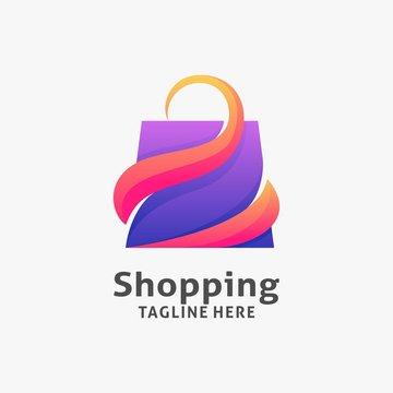 Shopping bag logo design inspiration
