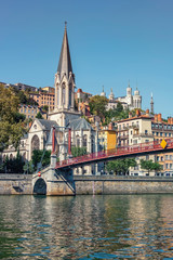 Wall Mural - City of Lyon in daytime