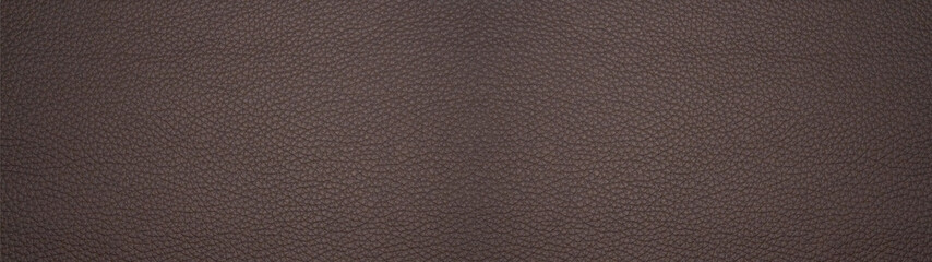 Dark brown chocolate rustic leather texture - Background banner panorama long