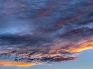 Wolken am Abendhimmel