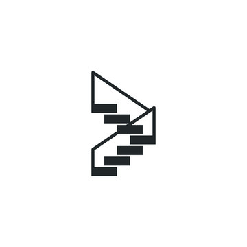 Stairs icon template color editable. Staircase Stairway symbol vector sign isolated on white background illustration for graphic and web design.