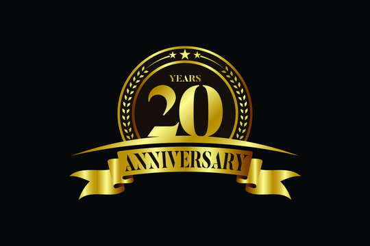 20th years anniversary logo template Vector design birthday celebration