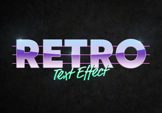 Retro Style Text Effect Mockup