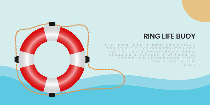 Ring life buoy background - vector