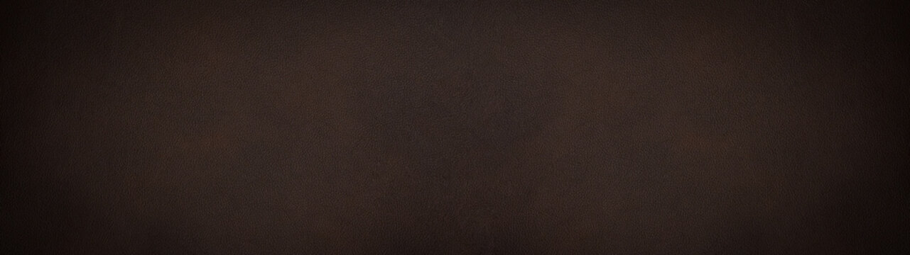 Dark brown chocolate rustic leather texture - Background banner panorama