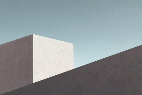 minimal modern architecture building