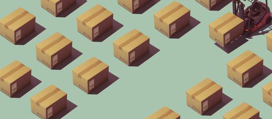 Fototapeta Warehouse and logistics obraz