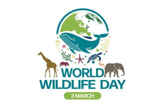 World Wildlife Day Logo design template, March 3