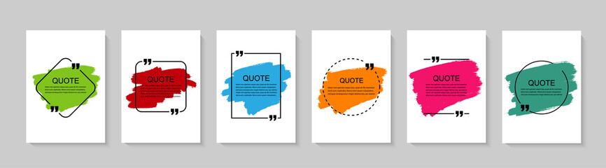 Inspirational quote for your opportunities. Speech bubbles with quote marks. Vector illustration