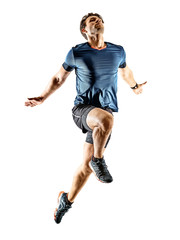 runner running jogger jogger young man isolated white background