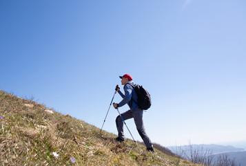 man in a hike