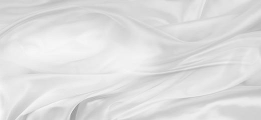 Deurstickers Stof White silk fabric lines