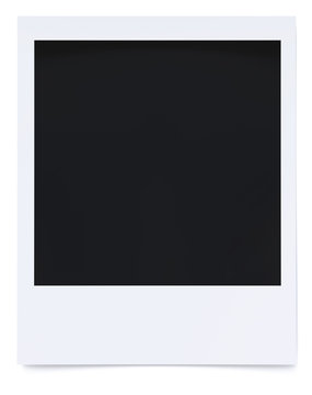 Blank photo frame isolated on white background 3d rendering