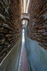 Wall Murals Narrow alley Città della Pieve, Umbria, Italy