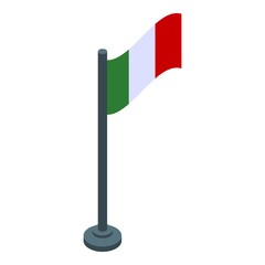 Mexican flag icon. Isometric of mexican flag vector icon for web design isolated on white background