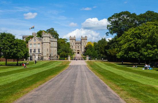 View of Windsor Castle in Berkshire, UK