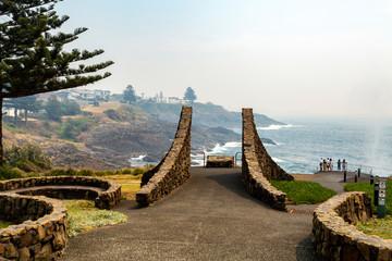 Kiama Little Blowhole Point Lookout Fotobehang