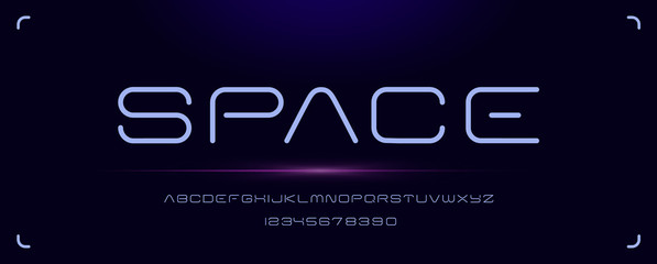 Futuristic minimal font for logos and headlines Wall mural