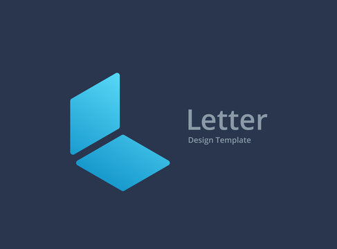 Letter L notebook logo icon design template elements