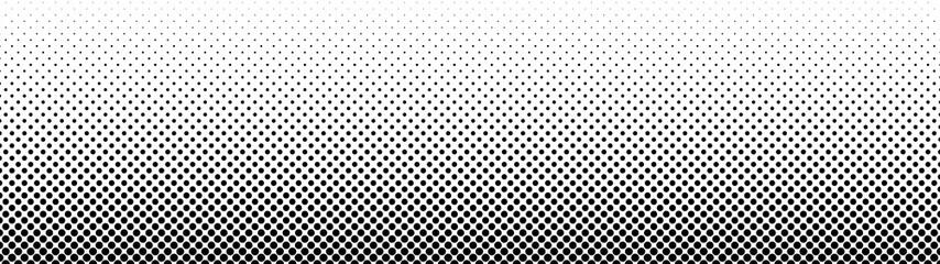Obraz Gradient halftone. Abstract gradient background of black dots. Vector illustration. - fototapety do salonu