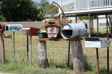 Many funny letterboxes, Australia