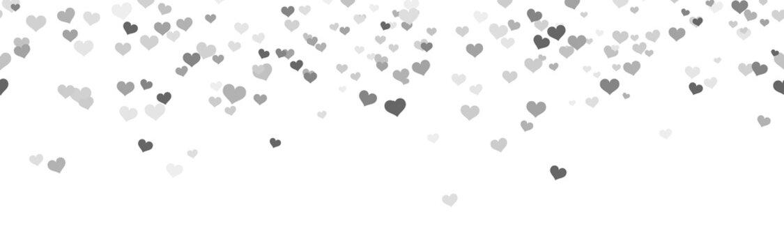 seamless confetti hearts background