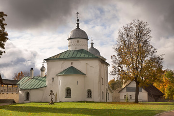 Cathedral of St. Nicholas at fortress of Izborsk. Russia