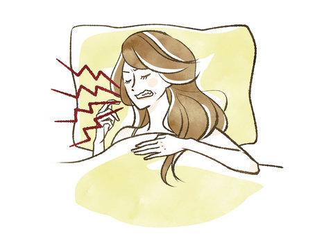 女性-睡眠-歯ぎしり